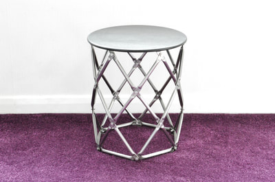 Geodesic Cylinder Stool by Connor Holland