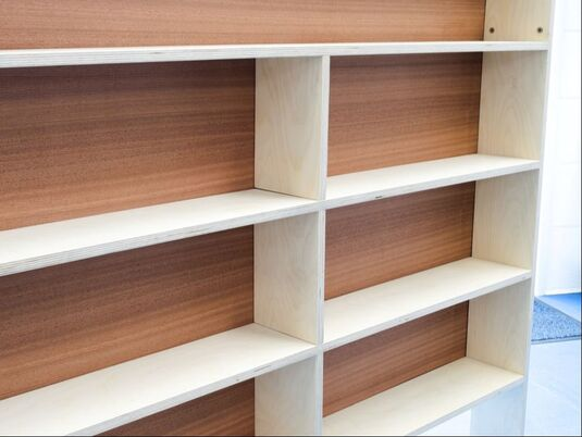 Slope bespoke bookcase by Connor Holland