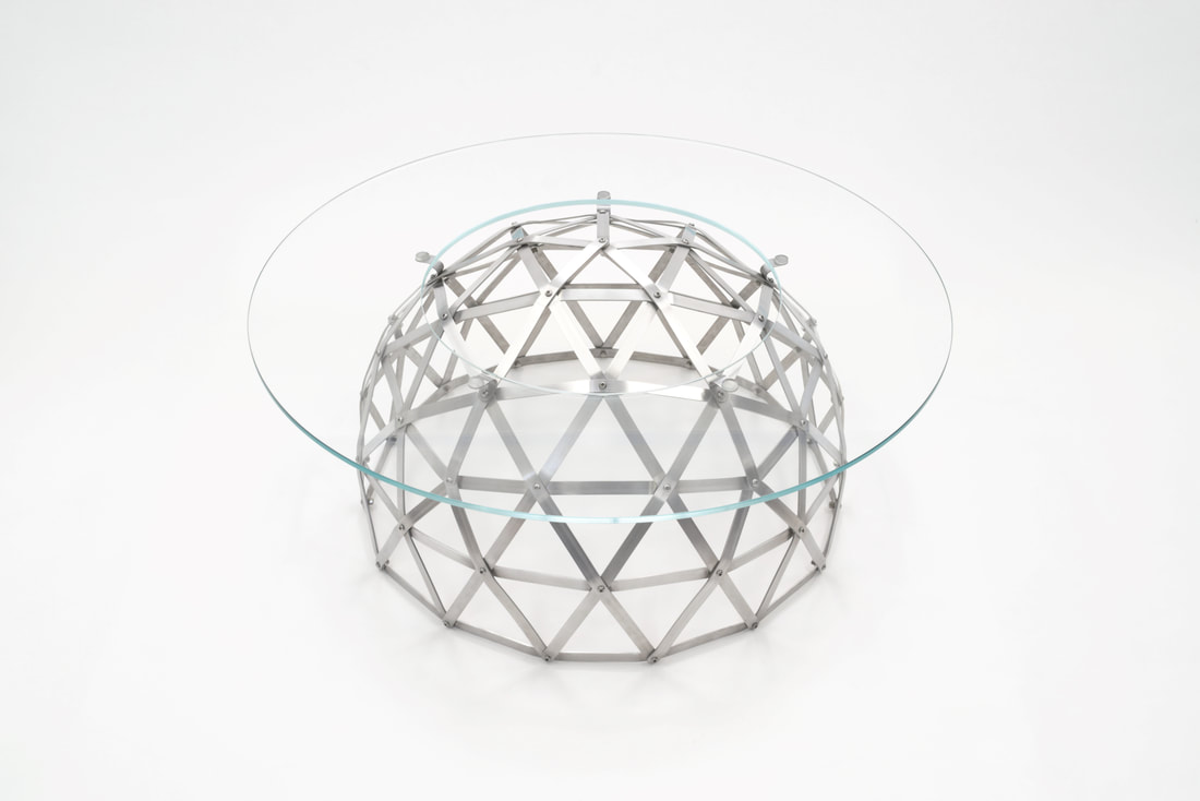 Aluminium Geodesic Dome Table by Connor Holland