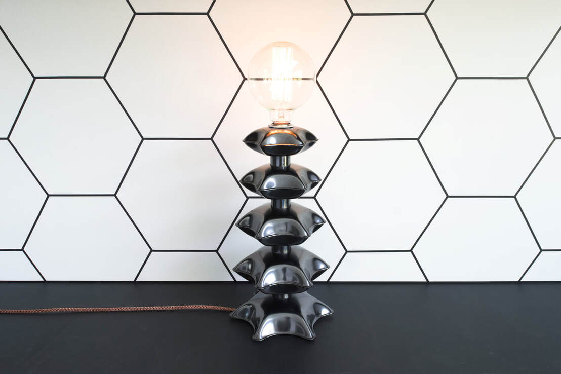 Inflated Steel Pagoda Lamp by Connor Holland